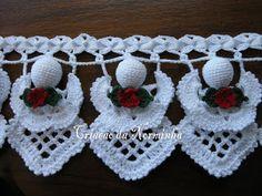 Ponto Preso1: Croche & Natal - PAP 5 - Anjinhos Barrados da Norminha