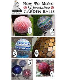 DIY Decorative Garden Balls - Home and Garden Design Ideas