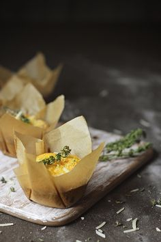 Thyme and parmesan popovers...adorable presentation