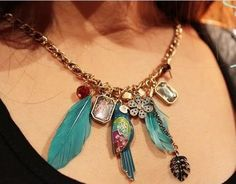 Vintage Mix Element Parrot Feather Flower by goodfindsfrommiami, $14.00