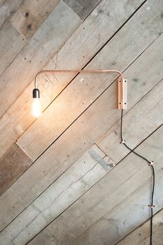 copper sconce at blender