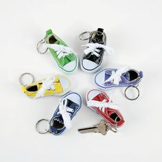 Stand in Holy Places cute idea! Tennis Shoe Key Chains - OrientalTrading.com