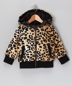 LOVE!! Black & Leopard Reversible Jacket - Toddler & Girls by Chillipop on #zulily today! #Fall