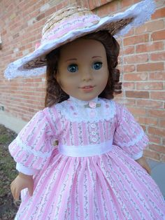 18 Doll Clothes Historical Civil War Style Gown by Designed4Dolls
