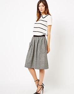 midi skirts, tweed check, style, aso skirt, aso midi, skirt aso, pocket aso, skirt tweed, pockets