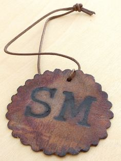 Leathered Tag  Designed by Stacey Merrill using kraft•tex™