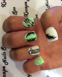 Dream catcher nail designs