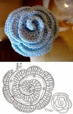 Beautiful crochet flower ~ diagram