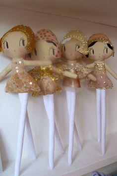 Vintage Show Girl Dolls