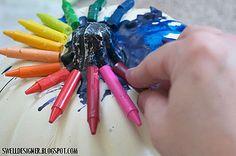 Crayon Drip Pumpkin Art
