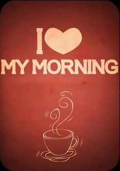 with my coffee..