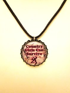 Camo and Hot Pink Country Girls Can Survive Browning by mboulet, $8.00