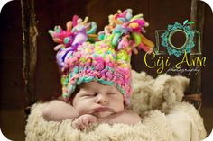 NEWBORN Photography Prop - Baby Knit Hat