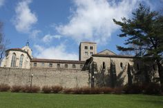 This is The Cloisters, an extraordinary department of the Metropolitan Museum of Art, devoted to medieval art and architecture.  It's well worth a trip to Fort Tryon Park, in the Bronx!
