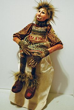 "A ""Wild Thing"" doll by Rebecca Kempson,, instructor at the John C. Campbell Folk School 