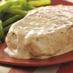 Cream cheese pork chops