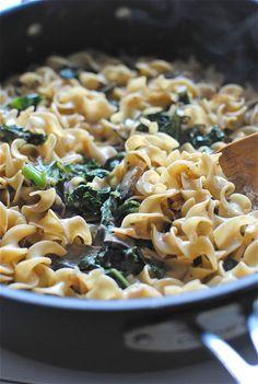 Portobello Mushroom and Kale Stroganoff / Bev Cooks
