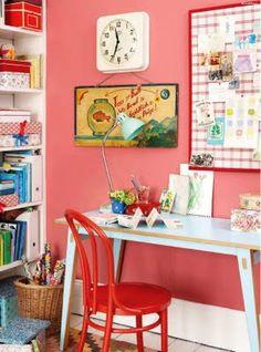 coral pink walls