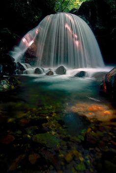 Mikaduki Falls, Otamamura, Fukushima, Japan