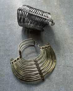 Alexander Calder Two Bracelets silver and brass 1940