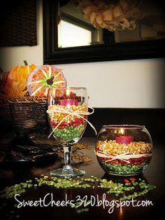 ♥ Sweet Cheeks..: DIY - Fall Candle Decor