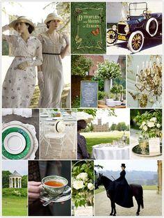Downton Abbey-inspired.  LOVE Downton Abbey!!