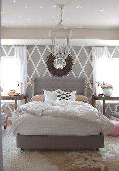 bedroom - love the Wall design