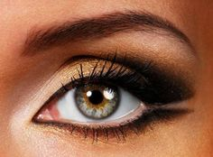 Make Up Trends Fall Winter 2013--Gold eye shadows are perfect for the fall-winter season. Pair them with brown.