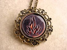 Divergent Insurgent Allegiant Faction Dauntless Symbol Round Filgree Floral Pendant