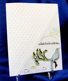Diagonal embossing folder