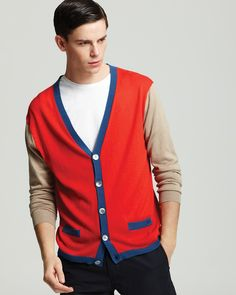 MARC BY MARC JACOBS Lightweight Colorblock Cardigan