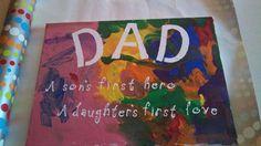 father's day spray art