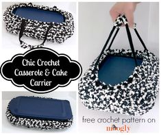 Chic Crochet Casserole and Cake Carrier