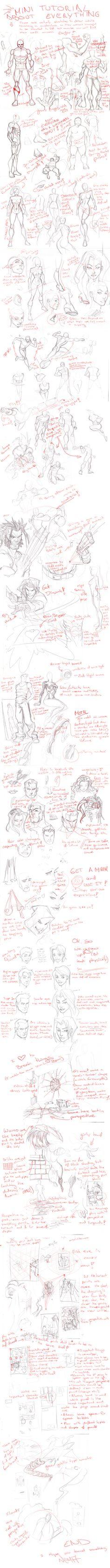 mini tutori, comic books, comic tutorial
