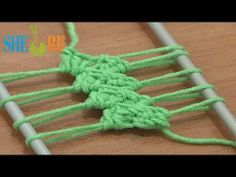 Crochet Hairpin Lace Braid Tutorial 12 Crochet Basic Hairpin Strip - this time a more ornate centre spine section.  great tutes!