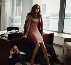 Kristen Wiig and Seth Meyers Photographed for the March Issue of Vogue