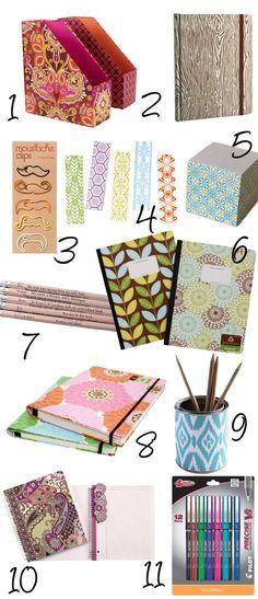 School Supplies: My dream back-to-school supply list. ginadebacker.wordpress.com