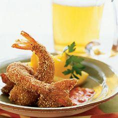 Cornmeal-Cumin-Crusted Shrimp