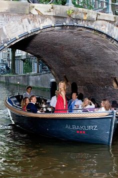 Why not throw a dinner party on a boat in Amsterdam?