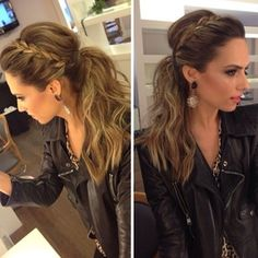 french braids, hair colors, curl, bridesmaid, braid poni, girl hairstyles, beauti, hair style, pony tails