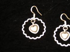Heart Earrings Gifts for Her Heart Dangle Earrings  by JewelActs, $29.00