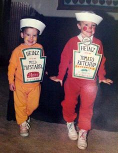 Fancy dress idea. via very much appreciated. Maybe do with French's mustard. Easy with sweatsuits.  #provestra