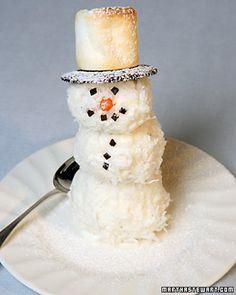Simple Christmas Cookies kids can make Coconut Snowmen Dec 22