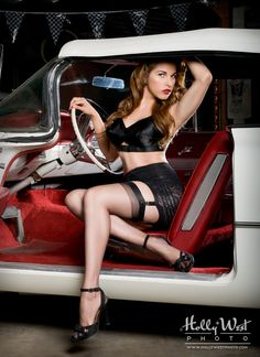 On the car. #sexy #pinup #car #dearsweetness