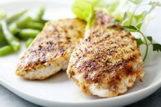 Combine olive oil, ¼ cup of lemon juice, ¼ cup of white vinegar, and 1 tablespoon each of dried parsley and basil. Add in a ½ teaspoon of dried oregano, garlic powder, salt, cracked black pepper, and a dash of chopped garlic. Toss a pound of chicken breasts into the marinade for at least 10 stuffed minutes, and then grill or bake in the oven at 425 degrees for 15 minutes or until juices run clear -