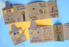 Have your child make a scarecrow book of their favourite Fall activities. Looks like a lot of fun! Scarecrow craft for fall.