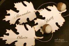 DIY Fall Place Card, Free Printable Download