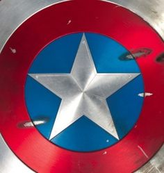 """Captain America's battle-scarred stunt shield from the """"Captain America: The First Avenger"""""""