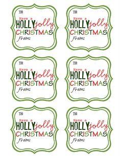 free Christmas printable gift tags