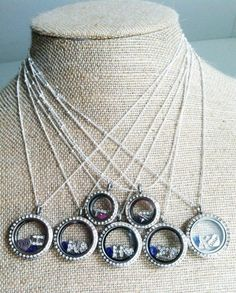Origami Owl Bridesmaid Wedding Gift Lockets -- a beautiful, cohesive look...but personalized and custom.